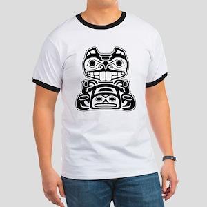Beaver Native American Design Ringer T