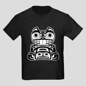 Beaver Native American Design Kids Dark T-Shirt