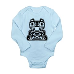 Beaver Native American Design Long Sleeve Infant B