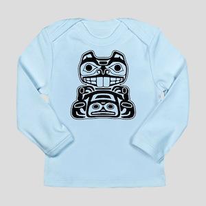 Beaver Native American Design Long Sleeve Infant T