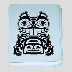 Beaver Native American Design baby blanket