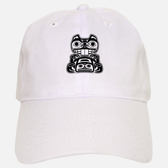Beaver Native American Design Baseball Baseball Cap