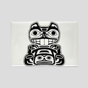 Beaver Native American Design Rectangle Magnet