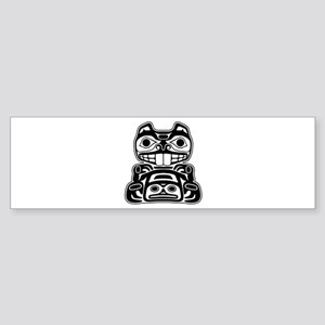 Beaver Native American Design Sticker (Bumper)