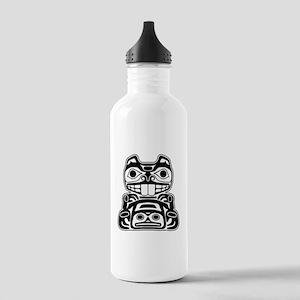 Beaver Native American Design Stainless Water Bott