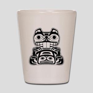Beaver Native American Design Shot Glass