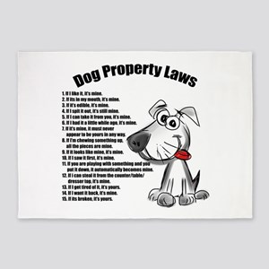 Dog Property Laws 5'x7'Area Rug