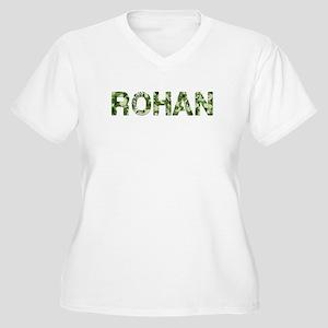 Rohan, Vintage Camo, Women's Plus Size V-Neck T-Sh