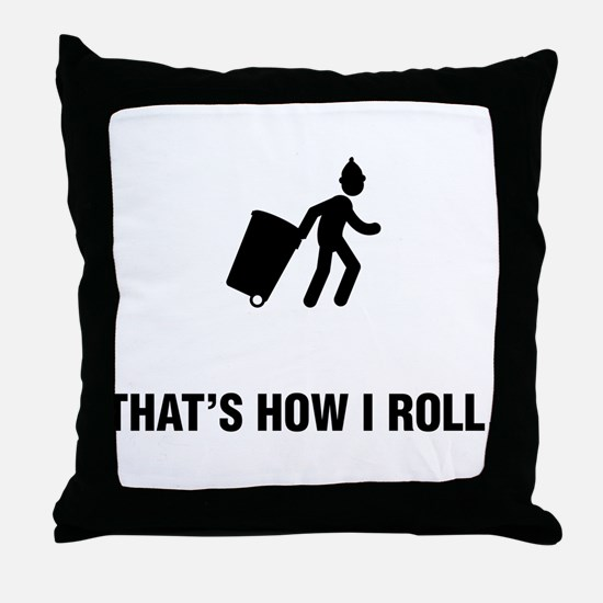 Waste Collecting Throw Pillow