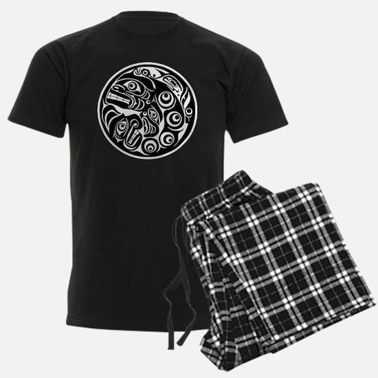 Circle of Faces Native American Design Pajamas