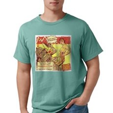 Krimson Girl Robot Comic Mens Comfort Colors Shirt