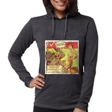 Krimson Girl Robot Comic Womens Hooded Shirt