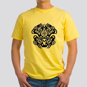 Frog Native American Design Yellow T-Shirt