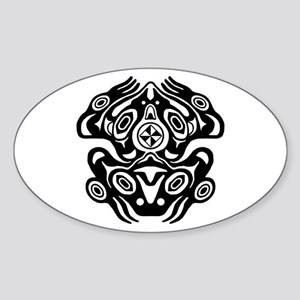 Frog Native American Design Sticker (Oval)