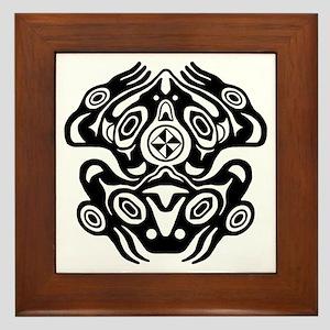 Frog Native American Design Framed Tile
