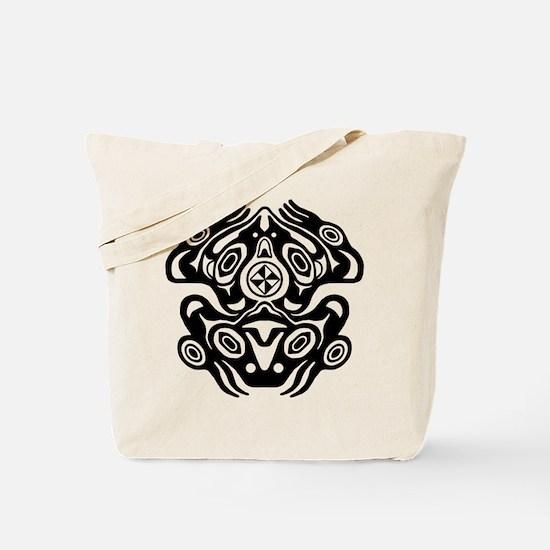 Frog Native American Design Tote Bag