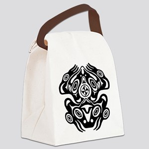 Frog Native American Design Canvas Lunch Bag