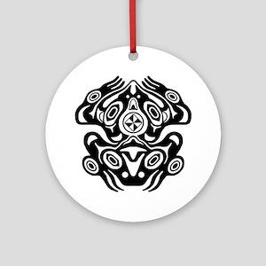 Frog Native American Design Ornament (Round)