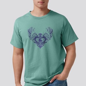 Bulldog Winged Heart Mens Comfort Colors Shirt