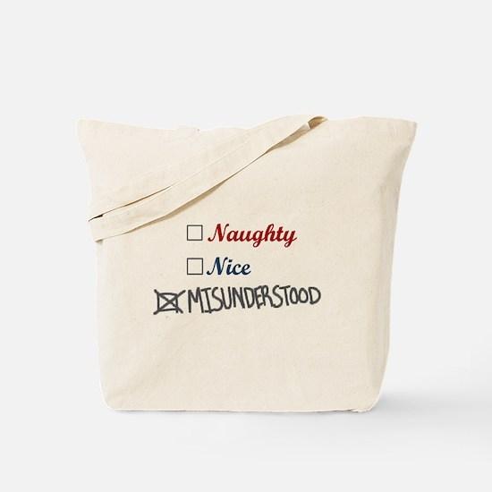 Naughty Nice Misunderstood Tote Bag