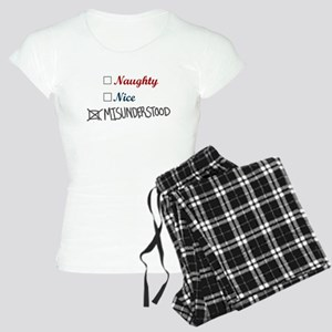 Naughty Nice Misunderstood Women's Light Pajamas