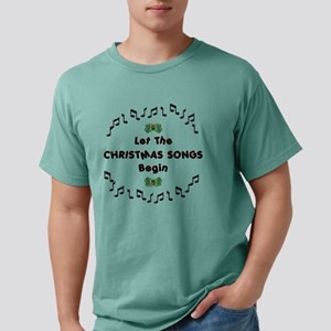 Christmas songs Mens Comfort Colors Shirt