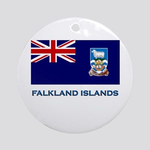 The Falkland Islands Flag Stuff Ornament (Round)