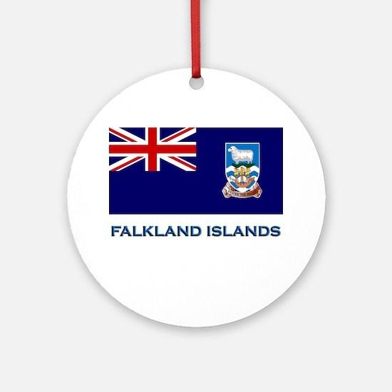 The Falkland Islands Flag Stuff Ornament (Round)