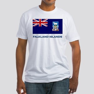 The Falkland Islands Flag Stuff Fitted T-Shirt