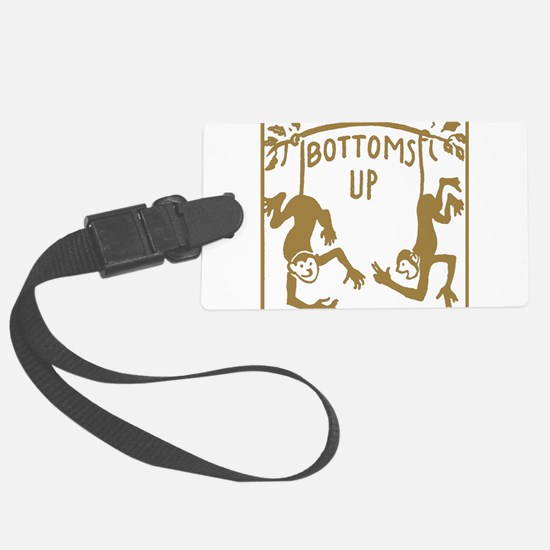 Retro Bottoms Up Luggage Tag