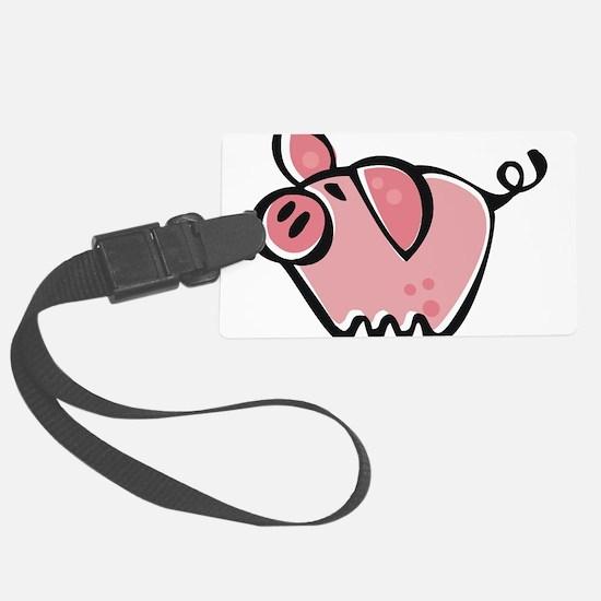 Cute Cartoon Pig Luggage Tag