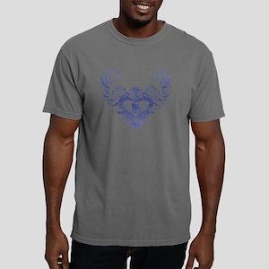Pug Winged Heart Mens Comfort Colors Shirt