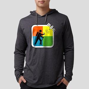 GeoCache Man Mens Hooded Shirt