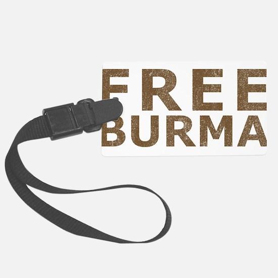 Vintage Free Burma Luggage Tag