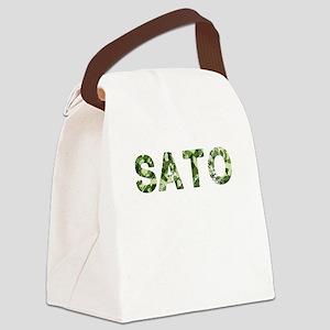 Sato, Vintage Camo, Canvas Lunch Bag
