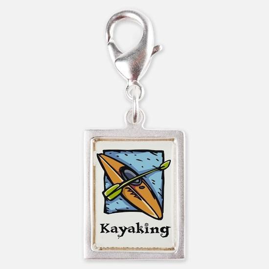 Kayaking Silver Portrait Charm