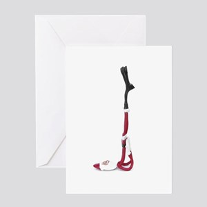 shoulder stand card Greeting Cards