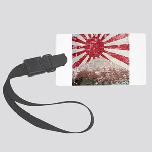 Vintage Mount Fuji Large Luggage Tag