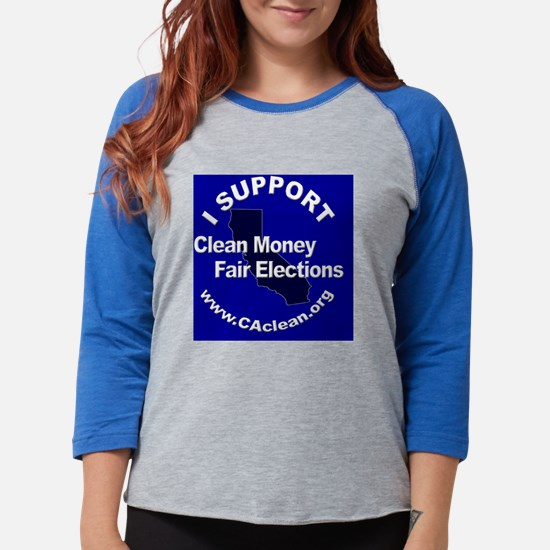 Button_ISupportBlue2_v3.png Womens Baseball Tee