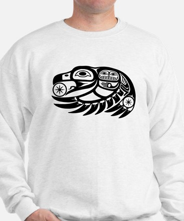 Raven Native American Design Sweatshirt