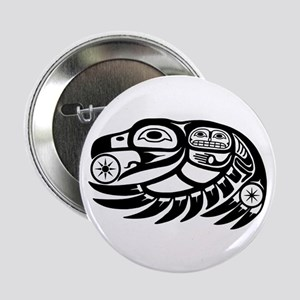 "Raven Native American Design 2.25"" Button"