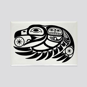 Raven Native American Design Rectangle Magnet