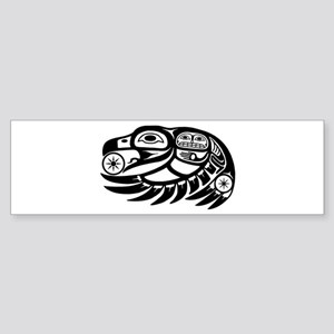 Raven Native American Design Sticker (Bumper)