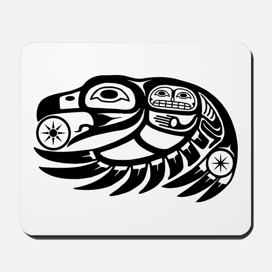Raven Native American Design Mousepad
