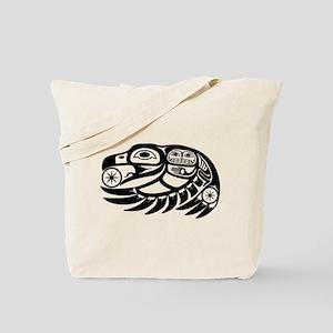 Raven Native American Design Tote Bag