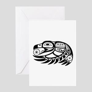 Raven Native American Design Greeting Card