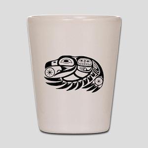 Raven Native American Design Shot Glass