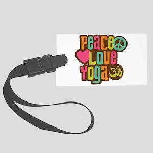 Peace Love Yoga Large Luggage Tag