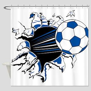 Soccer Ball Burst Shower Curtain