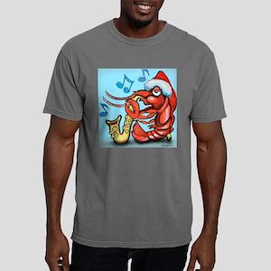 Crayfish Xmas Tile Mens Comfort Colors Shirt